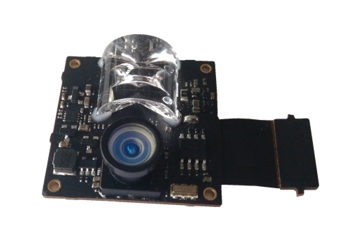 Lens on a technical device